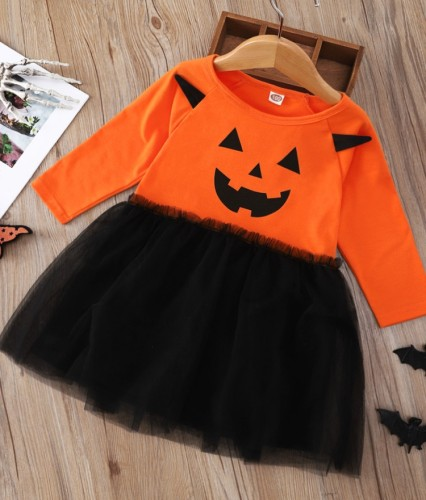 Kinder Mädchen Teufel Print Halloween Partykleid
