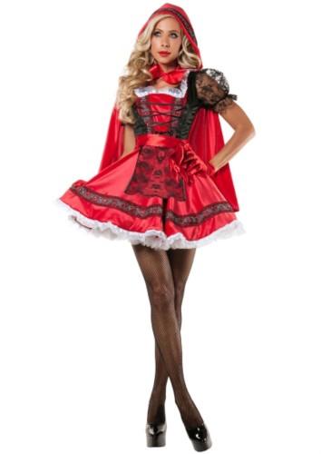 Seksi Karnaval Cadılar Bayramı Partisi Kırmızı Başlıklı Kız Kız Cosplay Kostüm