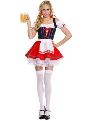 Costume cosplay della ragazza della cameriera della cameriera della birra della festa di Halloween del carnevale sexy