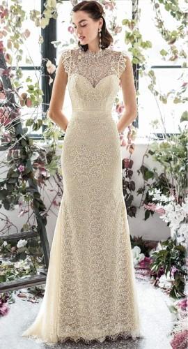 Fall Elegant Full Lace Floral Sleeveless Evening Dress