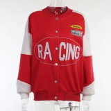 Winter Casual Color Block Buttop Up Baseball Jacket