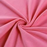 Herbst Sexy Rosa Träger Schulterfrei Langarm Enges Midikleid