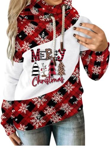 Kış Noel Baskılı Uzun Kollu Sweatshirt