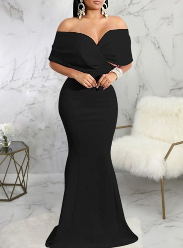 Autumn Black Sweetheart Mermaid Evening Dress