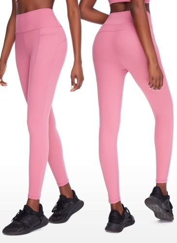 Autumn Pink High Waist Yoga Leggings