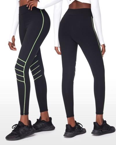 Autumn Black Stripes High Waist Yoga Leggings
