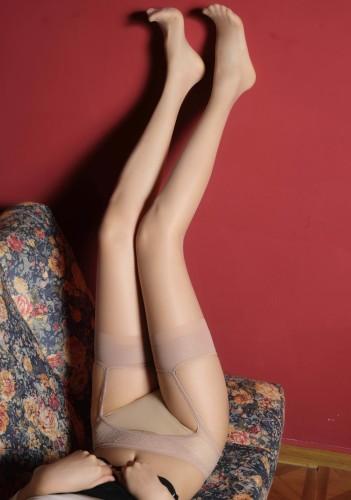Midnight Erotic Lingerie Rosa Netzstrumpfhose