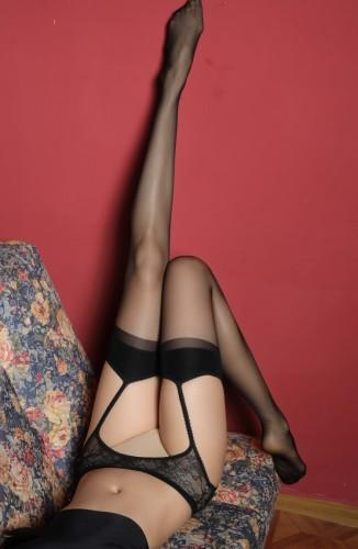 Midnight Erotic Lingerie Schwarze Netzstrumpfhose