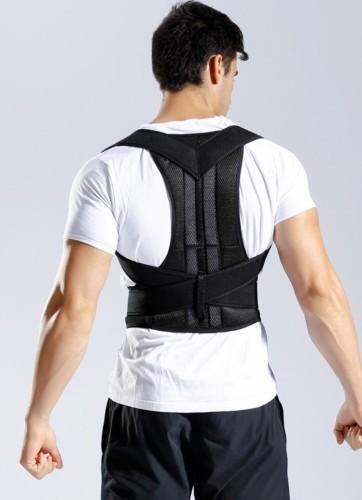 Sport schwarze Fixiergurte für die Rückenstütze