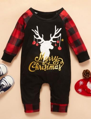 Mameluco con estampado navideño de cuerpo de bebé de invierno
