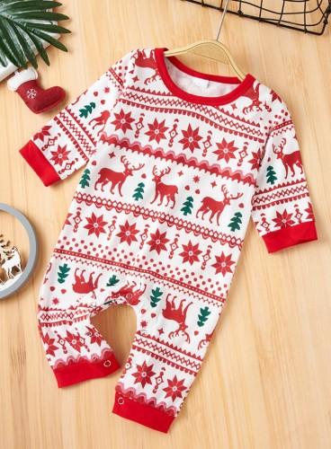 Winter Baby Mädchen Weihnachtsdruck Schlafanzug