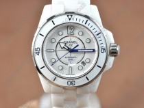 シャネルChanel J12 (Best version)Full White Ceramic White Dial Swiss Eta 2824-2自動巻き