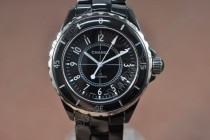 シャネルChanel J12 Black Full Ceramic Swiss Eta 2824-2自動巻き