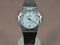 オメガOmega Constellation Ladies SS/LE White Swiss Ronda Quartzクオーツ
