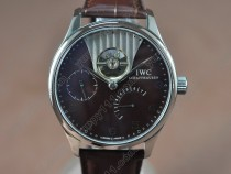 IWC Portuguese Power Reserve SS/LE Brown Asian Auto自動巻き