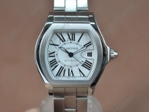カルティエCartier Men Roadster SS White dial Swiss Eta SW200-1自動巻き