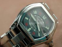 カルティエCartier Men Roadster SS Black Lume/Red Num自動巻