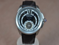 カルティエCartier Calibre de cartier SS/LE Black Asia Automatic自動巻き