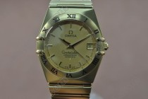 オメガOmega Constellation 18K Wrapped TT Men Roman Bezel Swiss Eta 2836 1100自動巻き
