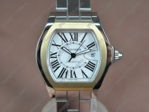 カルティエCartier Men Roadster SS/SS White dial A-2824-2自動巻き
