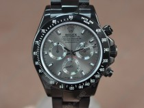ロレックスRolex Daytona Full PVD Grey dial Asian 7750 Secs@ 6.00自動巻き