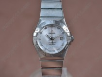 オメガOmega Constellation 28mm SS Silver dial Swiss eta 2671-2自動巻き