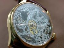 IWC F A Jones RG Decorated Skeleton Dial手巻き