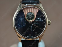 IWC Portuguese Power Reserve RG/LE Black Asian Auto自動巻き