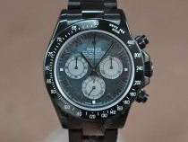 ロレックスRolex Daytona Full PVD Pearl blue Asian 7750 Secs@ 6.00自動巻き