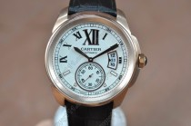 カルティエCartier Calibre de cartier RG/LE White Asia Automatic自動巻き