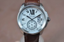 カルティエCartier Calibre de cartier SS/LE White Asia Automatic自動巻き