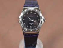 オメガOmega Constellation Ladies SS/LE Dark Purple Swiss Ronda Quartzクオーツ
