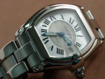 カルティエCartier Men Roadster SS White/Grey Swiss Eta 2824自動巻き