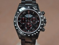 ロレックスRolex Daytona Full PVD Black dial Asian 7750 Secs@ 6.00自動巻き