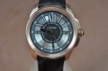 カルティエイCartier Calibre de cartier RG/LE/GMT Black Asia Automatic自動巻き