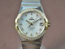 オメガOmega Constellation 38mm 18K Wrapped TT Pearl white dial Swiss SW200-1自動巻き