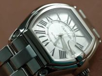 カルティエCartier Men Roadster SS White Swiss Eta 2824-2自動巻き