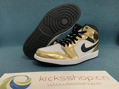 """Authentic Air Jordan 1 Mid SE """"Metallic Gold"""""""