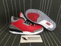 Authentic  Air Jordan 3s Red Cement