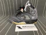 Authentic Jordan 5s x OFF-WHITE