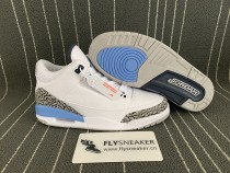 Authentic Air Jordan 3s UNC 2020