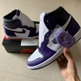 """Authentic Air Jordan 1s """"Court Purple"""""""