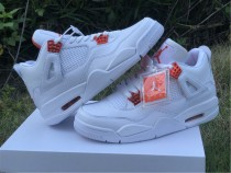 "Authentic  Air Jordan 4 ""Orange Metallic"""