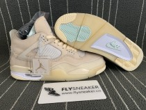Authentic Air Jordan 4s x Off  White Sail