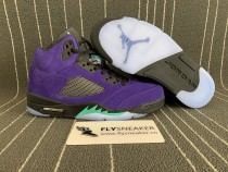"Authentic Air Jordan 5s ""Alternate Grape"""