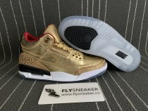Authentic Air Jordan 3s  Gold