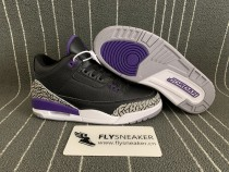 "Authentic Air Jordan 3 ""Court Purple"