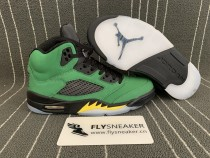 "Authentic Air Jordan 5  ""Oregon Ducks"""