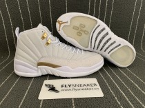 "Authentic  Air Jordan 12 OVO ""White"""