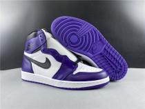 Authentic  Air Jordan 1 GS Court Purple